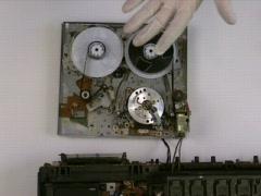VCR Head Tape Rewind 2 Stock Footage