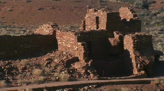 Wupatki Pueblo Ruins  Stock Footage