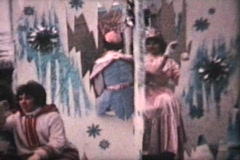 Princesses And Upside Down Clown Parade (1964 Vintage 8mm film) Stock Footage
