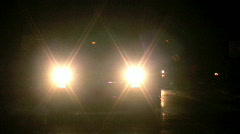 Bright Truck Headlights Stock Footage