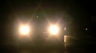 Stock Video Footage of Bright Truck Headlights