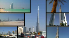Dubai UAE Montage - stock footage