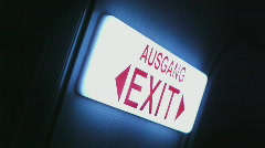 HD1080p The emergency exit on airbus aircraft Stock Footage