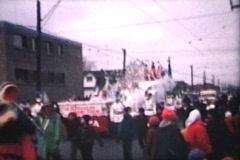 Santa Claus Parade At Christmas (1964 Vintage 8mm film) Stock Footage