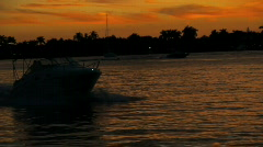 Boating South Florida Intracoastal #1 Stock Footage