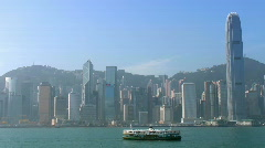Hong Kong Island (pan) - stock footage