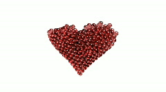 Valentine Heart Composed of Glass Spheres  - Heart 26 (HD) Stock Footage