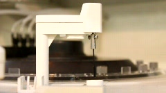Chemical analysis laboratory Stock Footage