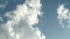 Flying Baloons Stock Footage