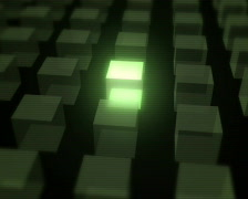 Three-dimensional background with cube PAL Stock Footage