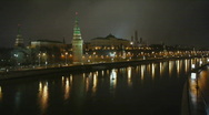 HD1080p Moscow Kremlin by night Stock Footage
