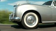 Old Car on Road Stock Footage