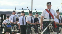 Highland pipe band - stock footage