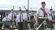 Highland pipe band Stock Footage
