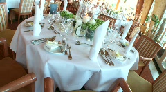Table Decoration - stock footage