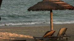 Paradise Beach Sea Resort  Stock Footage