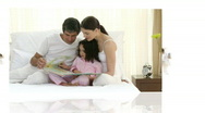 Family at home Stock Footage