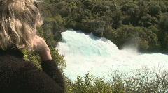 Watching waterfalls Stock Footage