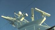 Cruise Ship Radar Stock Footage