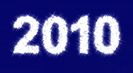 "Stock Video Footage of Sparkling inscription ""2010"""