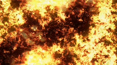 wall of fire - stock footage