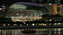 Esplanade at Singapore River Stock Footage