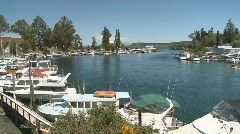 Marina on a lake Stock Footage