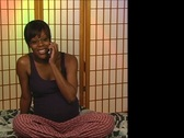 Stock Video Footage of Beautiful Pregnant Woman in Pajamas Answers Her Cell Phone
