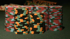 Poker Casino Chips Stop Motion Time Lapse - stock footage