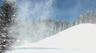 Snow Puffs  Stock Footage