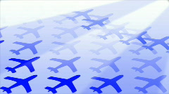 Commercial Airplanes Flying in and Taking Off Again - Loopable Animation - stock footage