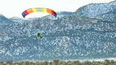 Power parachute land winter P HD 5825 Stock Footage