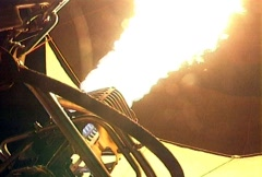 Hot Air Baloon Burner Stock Footage