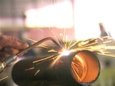 Stock Video Footage of Welding in Factory