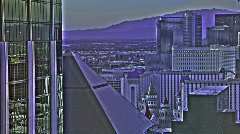 Las Vegas Strip Color Altered HDR Stock Footage