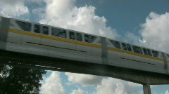 Monorail Flys above across the shot Stock Footage