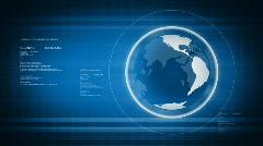 Digital world with Globe Stock Footage