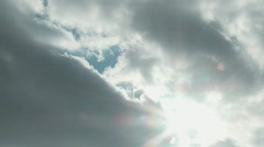 Time-lapse clouds and sun - stock footage
