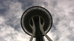 SEATTLES SPACE NEEDLE Tourist Destination Iconic Symbol Skyline Landmark Stock Footage