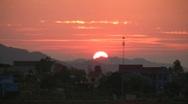 Sunset in a Vietnamese Village Stock Footage