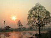 Sunrise, morning, lake Stock Footage