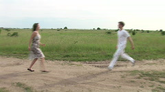 Lovers missed each other Stock Footage