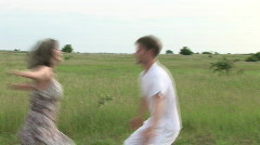 The Couple Met And Revolved Stock Footage