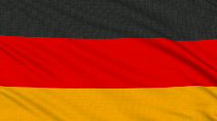 German flag, with real structure of a fabric Stock Footage