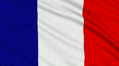 French flag, with real structure of a fabric - stock footage