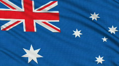 Australian, with real structure of a fabric - stock footage