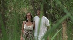 Happy couple walks Stock Footage