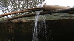 Water is pumped into storage for irrigation, Central Vietnam Stock Footage