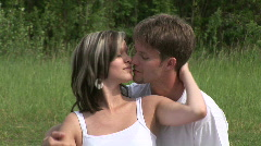 Lovers caressing each other Stock Footage