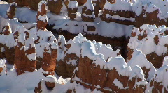 Bryce Canyon Snow Show Stock Footage